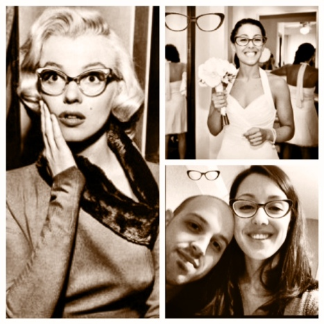 No one rocks ANYTHING like Marilyn Monroe but there's no denying that these cat-eye frames are fierce! You can try them on the Clearly Contacts website!