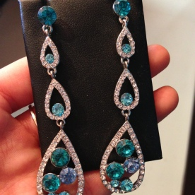 Blue and Emerald Earrings From Moda L Boutique in Woodbridge