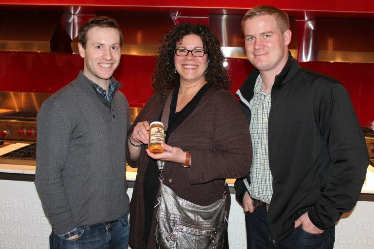 From Left to Right: James Sculthorpe (President (Yorkshire Valley Farms), Rossy Earle (Owner of SupiCucu) and Nike Ahrens (Farmer & Owner Betolianni Organic Farms) — at SubZero Wolf Showroom.